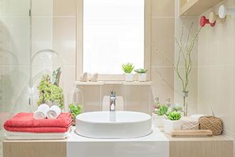 据え置き型洗面台化粧台の特徴
